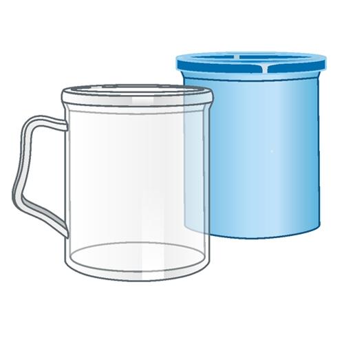 Кружка пластиковая под полиграфическую вставку