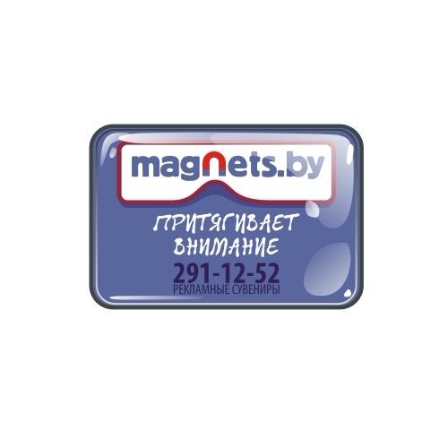 Магнит-визитка 70х50 мм с линзой