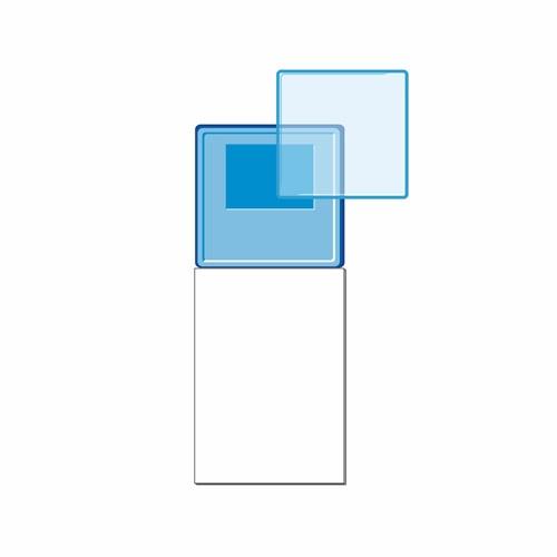 Акриловый магнит с блоком